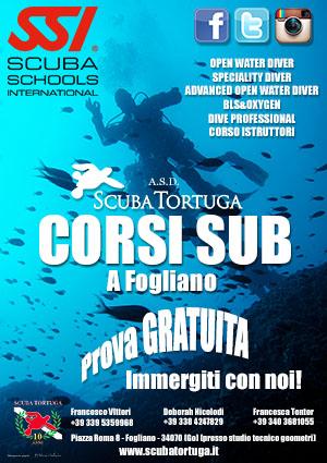 Corsi Sub, Trieste, Fogliano, Gorizia, sub, scuba trtuga, diving