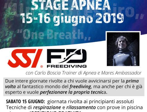 Stage Apnea Weekend 15/16 giugno